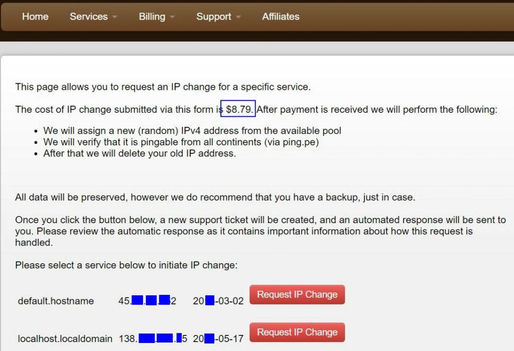 搬瓦工优惠码 - 免费更换IP方法
